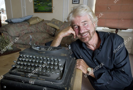 Willy Russell with his first typewriter