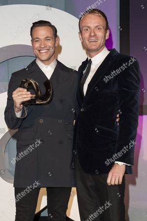 Matthew Cain presents Will Young with the Culture Award