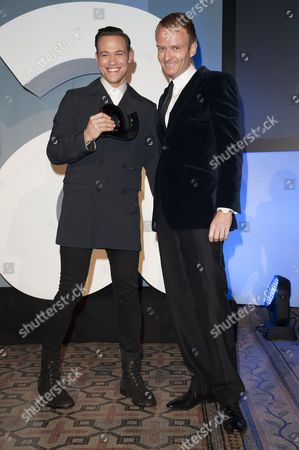 Stock Photo of Matthew Cain presents Will Young with the Culture Award