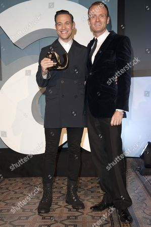 Stock Image of Matthew Cain presents Will Young with the Culture Award