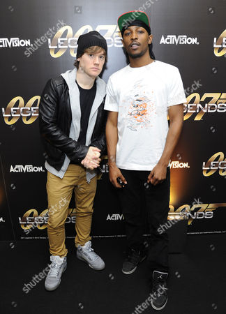 Stock Photo of KISS 100 DJ Logan Sama and JME