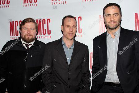 Michael Chernus, Stephen Belber and Dominic Fumusa