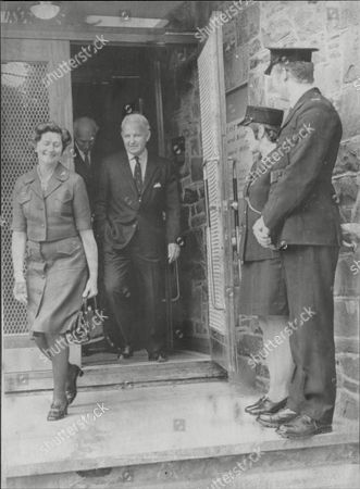 Politician And Prime Minister Of Northern Ireland Baron Faulkner With Lady Faulkner After Handing In His Nomination Papers Arthur Brian Faulkner Baron Faulkner Of Downpatrick Pc (18 February 1921 A 3 March 1977) Was The Sixth And Last Prime Minister Of Northern Ireland From March 1971 Until His Resignation In March 1972. He Was Also The Chief Executive Of The Short-lived Northern Ireland Executive During The First Half Of 1974. Faulkner Married Lucy Forsythe A Graduate Of Trinity College Dublin In 1951. They Met Through Their Common Interests In Politics And Hunting. She Was Equally Suited To A Political Partnership Having Had A Career In Journalism With The Belfast Telegraph And Was Secretary To The Northern Ireland Prime Minister Lord Brookeborough When They Met. Together They Had Three Children - A Daughter And Two Sons. Lord Faulkner A Keen Huntsman Died On 3 March 1977 At The Age Of 56 Following A Riding Accident Whilst Hunting With The Down Staghounds Near Saintfield County Down. Faulkner Had Been Riding At Full Gallop Along A Narrow Country Road When His Horse Cannonball Bolted And Collided With A Car. Faulkner Was Thrown Off And Killed Instantly.