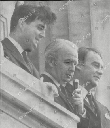 Politician And Prime Minister Of Northern Ireland Baron Faulkner L-r John Taylor Mp Baron Faulkner And Mr William Craig At Rally Arthur Brian Faulkner Baron Faulkner Of Downpatrick Pc (18 February 1921 A 3 March 1977) Was The Sixth And Last Prime Minister Of Northern Ireland From March 1971 Until His Resignation In March 1972. He Was Also The Chief Executive Of The Short-lived Northern Ireland Executive During The First Half Of 1974. Faulkner Married Lucy Forsythe A Graduate Of Trinity College Dublin In 1951. They Met Through Their Common Interests In Politics And Hunting. She Was Equally Suited To A Political Partnership Having Had A Career In Journalism With The Belfast Telegraph And Was Secretary To The Northern Ireland Prime Minister Lord Brookeborough When They Met. Together They Had Three Children - A Daughter And Two Sons. Lord Faulkner A Keen Huntsman Died On 3 March 1977 At The Age Of 56 Following A Riding Accident Whilst Hunting With The Down Staghounds Near Saintfield County Down. Faulkner Had Been Riding At Full Gallop Along A Narrow Country Road When His Horse Cannonball Bolted And Collided With A Car. Faulkner Was Thrown Off And Killed Instantly.