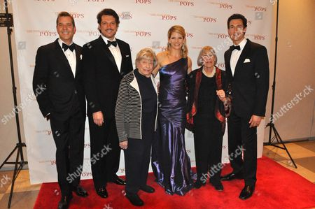Stock Picture of Steven Reineke, Paulo Szot, Alice Hammerstein, Kelli O'Hara, Mary Rodgers and Aaron Lazar