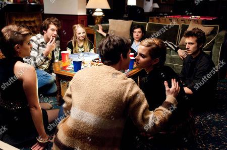Stock Picture of The Perks Of Being A Wallflower - Mae Whitman, Ezra Miller, Erin Wilhelmi, Logan Lerman, Adam Hagenbuch and Emma Watson