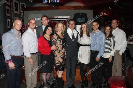 Stock Image of Denis Girlin, Matthew Mulvey, Mike Shannon, Joan Cuccioli Shannon, Laila Robins, Robert Cuccioli, Kristin Smith, Dan Shannon, Katie Miedler and Mark Miedler