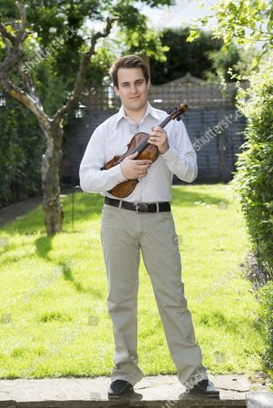 Editorial image of Jack Liebeck at home in Barnet, London, Britain - 11 Jul 2012
