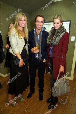 Marina Fogle, James Middleton and Olivia Hunt