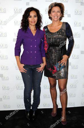 Aida Touihri and Corinne Touzet