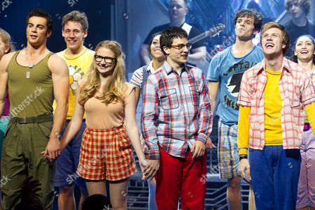 Stewart Clarke (Eddie Arch), Eliza Hope Bennett (Holly Manson), Aaron Sidwell (Michael Dork) and Richard Lowe (Lucas Lloyd)