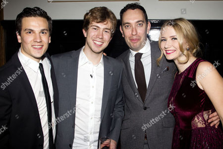 Aaron Sidwell (Michael Dork), James Bourne, Elliot Davis and Eliza Hope Bennett (Holly Manson)