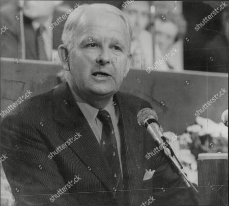 Politician And Prime Minister Of Northern Ireland Baron Faulkner Speaking At Conservative Conference Arthur Brian Faulkner Baron Faulkner Of Downpatrick Pc (18 February 1921 A 3 March 1977) Was The Sixth And Last Prime Minister Of Northern Ireland From March 1971 Until His Resignation In March 1972. He Was Also The Chief Executive Of The Short-lived Northern Ireland Executive During The First Half Of 1974. Faulkner Married Lucy Forsythe A Graduate Of Trinity College Dublin In 1951. They Met Through Their Common Interests In Politics And Hunting. She Was Equally Suited To A Political Partnership Having Had A Career In Journalism With The Belfast Telegraph And Was Secretary To The Northern Ireland Prime Minister Lord Brookeborough When They Met. Together They Had Three Children - A Daughter And Two Sons. Lord Faulkner A Keen Huntsman Died On 3 March 1977 At The Age Of 56 Following A Riding Accident Whilst Hunting With The Down Staghounds Near Saintfield County Down. Faulkner Had Been Riding At Full Gallop Along A Narrow Country Road When His Horse Cannonball Bolted And Collided With A Car. Faulkner Was Thrown Off And Killed Instantly.