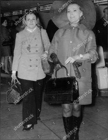 Zsa Zsa Gabor With Her Daughter Francesca Hilton.