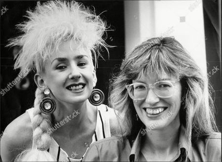 Muriel Grey Tv Presenter With Janet Street Porter Journalist 1985.