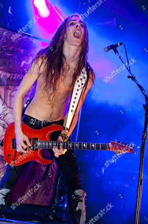 Prestatyn United Kingdom - December 3: Guitarist Dario Lorina Of American Shock Rock Group Lizzy Borden Performing Live On Stage At The Hard Rock Hell Festival In Prestatyn On December 3