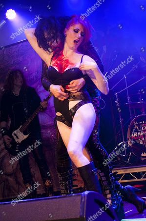 Stock Image of Prestatyn United Kingdom - December 3: Frontman Lizzy Borden Of American Shock Rock Group Lizzy Borden Performing Live On Stage At The Hard Rock Hell Festival In Prestatyn On December 3