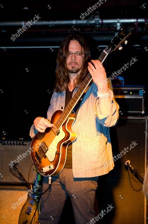 Stock Photo of London United Kingdom - July 4: Luther Dickinson Of American Blues Band Ian Siegal And The Mississippi Mudbloods Photographed During A Sound Check At The O2 Academy Islington July 4