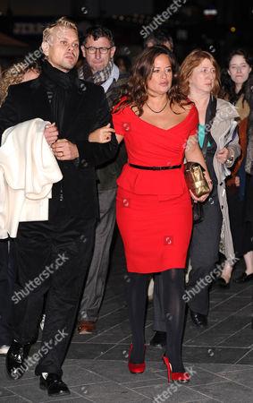 Adrian Fillary and Jade Jagger