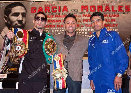 Unified Super Light Weight World Champion Danny Garcia, Oscar De La Hoya and Erik Morales