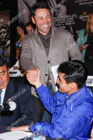 Oscar De La Hoya and Erik Morales
