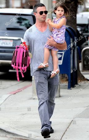 Stock Picture of Freddie Prinze Jnr with daughter Charlotte Grace Prinze