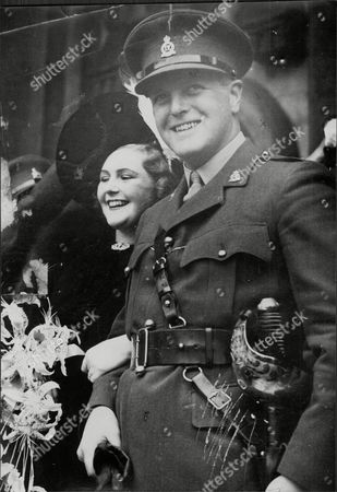 Editorial image of Weddding Of Politician Randolph Churchill To 1st Wife Pamela Digby Randolph Frederick Edward Spencer-churchill Mbe (28 May 1911 A 6 June 1968) Was The Son Of British Prime Minister Winston Churchill And His Wife Clementine. He Was A Conservative Memb