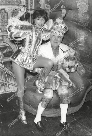 Editorial picture of Anita Harris Actress And Singer With Harry Worth At A Photocall For The Pantomime Jack And The Beanstalk.