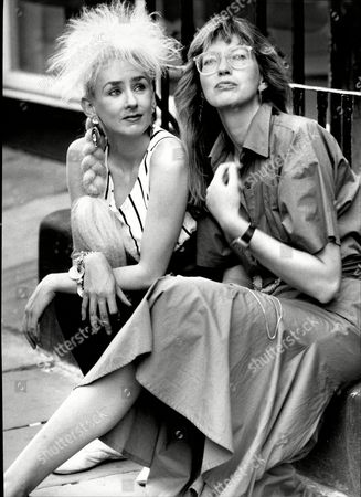 Editorial photo of Muriel Grey Tv Presenter With Janet Street Porter Journalist And Tv Producer 1985.