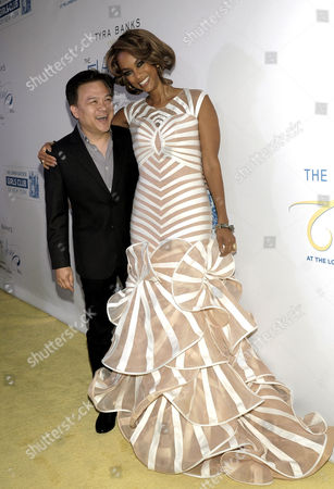 Stock Photo of Ken Mok and Tyra Banks