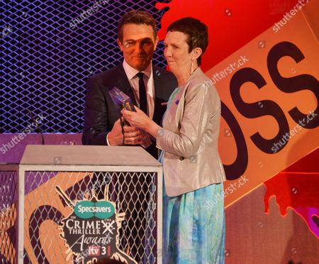 Author Ann Cleeves who was inducted into the Crime Thriller Hall of Fame with host Bradley Walsh