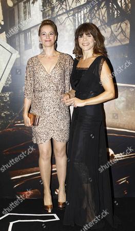 Stock Photo of Winners of the the Award for Best International Dagger - The Bridge's Sofia Helin and Ellen Hillingso