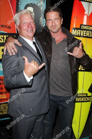 Stock Photo of Frosty Hesson and Gerard Butler