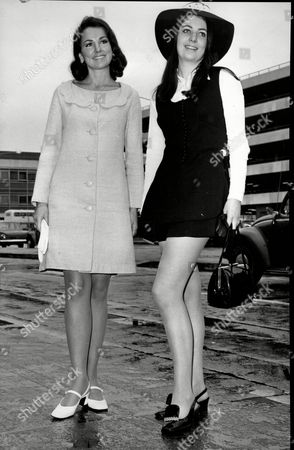 Valerie Holmes Miss Great Britain And Mary Kelly Miss Ireland.