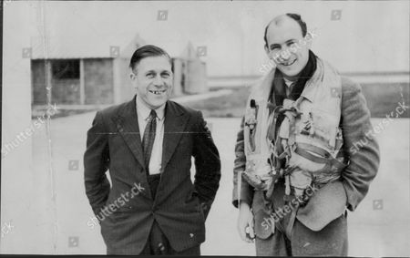 Mr Swain And Capt Alan Bristow Who Rescued Mr Swain One Of Three Lighthouse Keepers Marooned For 26 Days On A Rock Wall Near Lands End.