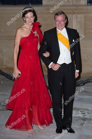 Stock Photo of Prince Jean of Luxembourg and Countess Diane de Nassau