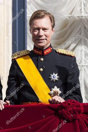 Grand Duke Henri of Luxembourg on the balcony