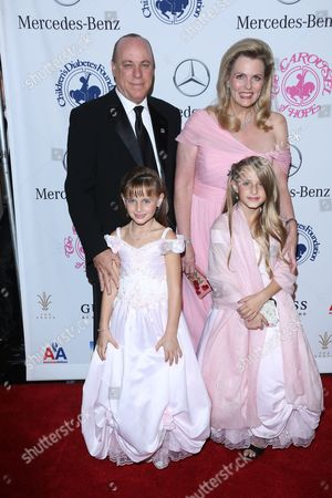 Nancy Davis with husband Ken Rickel and daughters Isabella Ricke