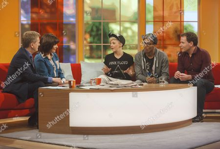 Aled Jones and Lorraine Kelly with MK1 - Charlotte Rundle and Simeon Dixon with Richard Arnold