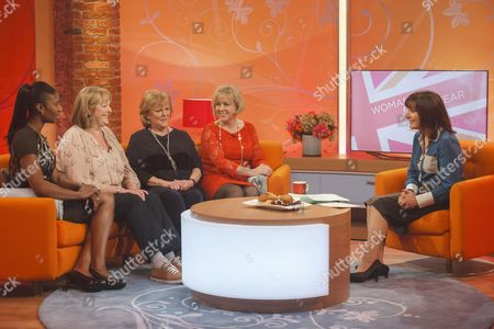 Denise Lewis with Kate Woolveridge, Anita Templar and Linda Graham and Lorraine Kelly
