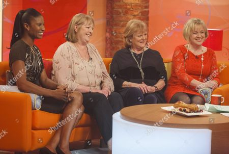 Denise Lewis with Kate Woolveridge, Anita Templar and Linda Graham.