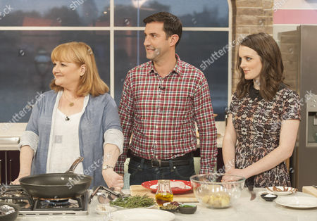 Lesley Nicol, Mark Sargeant and Sophie McShera