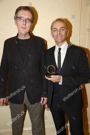 Underworld - Darren Price and Karl Hyde with award