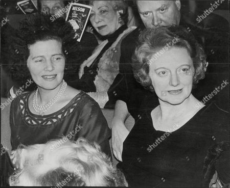 Editorial photo of Baroness Mary Soames With Diana Churchill Daughters Of Sir Winston Churchill (not Shown) Ashcroft Theatre Croydon 1963.