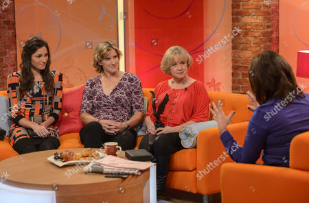 Sarah Storey, Katherine Grainger and Kate Woolveridge with Lorraine Kelly