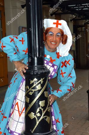 Don Maclean English actor and comedian as Panto Dame in