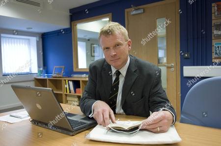 Professor Chris Williams at the Richard Burton Archives