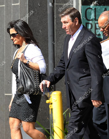 Stock Picture of Lynne and Jamie Spears return to the Los Angeles County Court House after lunch