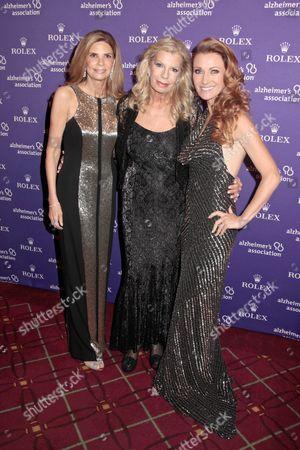 Robin Meltzer, Princess Yasmin Aga Khan and Jane Seymour