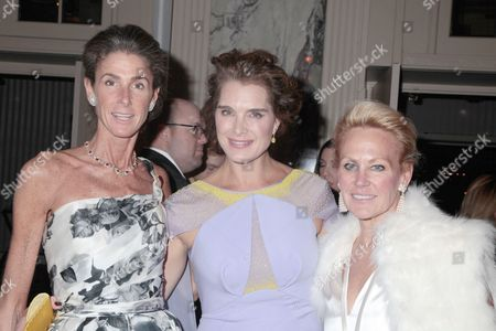 Stock Photo of Somers Farkas, Brooke Shields and Muffie Potter Aston